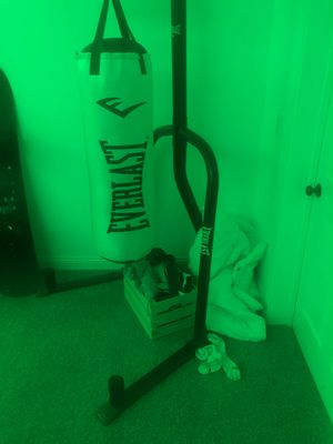 Everlast punching bag w/ stand for Sale in Redondo Beach, CA