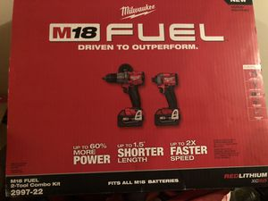 Milwaukee fuel set m18 for Sale in Denver, CO