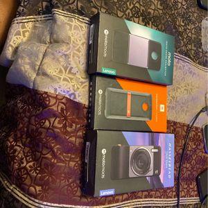 Moto Mods True Zoom Camera ,Insta Share Projector,Sound Boost Speaker for Sale in Columbia, SC