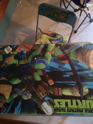 Kids Ninja Turtle desk and matching chair for Sale in Lake Forest Park, WA