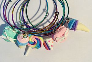 Rainbow swirl charm set for Sale in Cleveland, OH