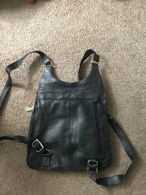 Genuine Leather Black Backpack Purse NWOT for Sale in Riverdale, GA