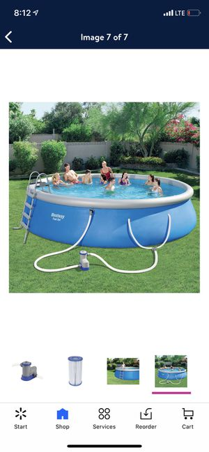"Bestway Fast Set 18' x 48"" Swimming Pool Set with Pump, Ladder and Cover $840 for Sale in Fresno, CA"