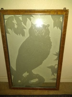 "Lance art picture etched in glass flawless 24x32""steel frame for Sale in San Jose, CA"