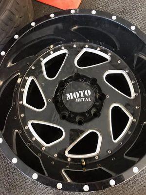 Like New Black Rims !!! 20×12 Moto Metal for Sale in San Bernardino, CA