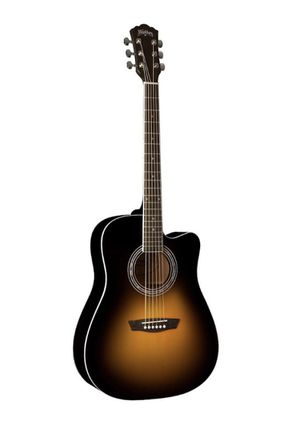 Washburn Acoustic Electric Guitar Vintage Tobacco Sunburst with Case for Sale in Los Angeles, CA