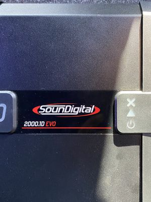 Soundigital 2000.1D EVO 1 ohm Evolution Line Class D | Monoblock Car Amplifier with 2000 Watts RMS for Sale in Lindsay, CA