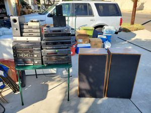 17 items Fisher Stereo receiver ,working fisher speakers,old directtv boxes to many items to list for Sale in Gardena, CA