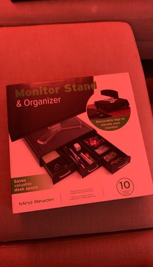 Monitor stand and organizer for Sale in Kirkland, WA