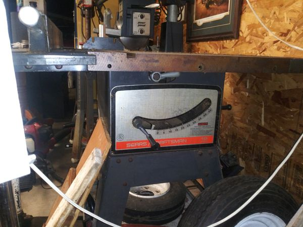 """10"""" craftsman table saw with stand"""