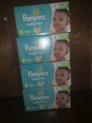 Size 3 diapers pampers $20 EACH PICK UP IN OAK CLIFF for Sale in Dallas, TX
