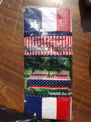 American flag vinyl table cloth for Sale for sale  Linden, NJ