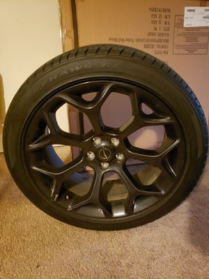 20 inch black Chrysler factory rims and tires for Sale in Rock Hill, SC