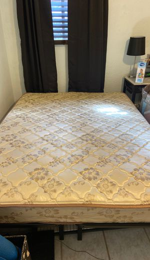 Full mattress and metal frame for Sale in Oakdale, CA