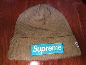 Supreme Box Logo Beanie Hat FW15 Rust World Famous New Era for Sale in NO POTOMAC, MD