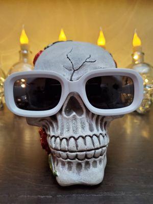 RETRO RocknRoll Sunglasses Black lenses Matte WHITE Frames for Sale in Long Beach, CA