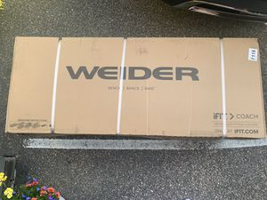 Weider XRS 20 Olympic Workout Bench with Independent Squat Rack and Preacher Pad for Sale in Needham, MA