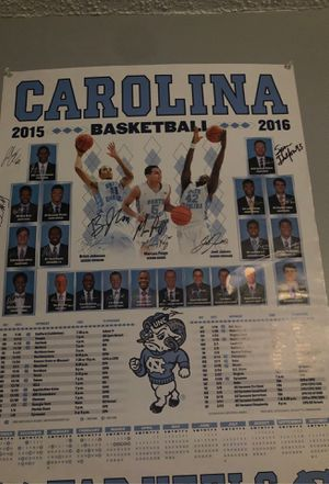 Unc signed poster 2015-2016 for Sale in Trinity, NC
