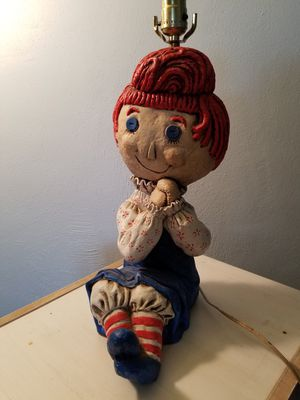 Vintage Handmade Raggedy Ann Table Lamp for Sale in Bethesda, MD