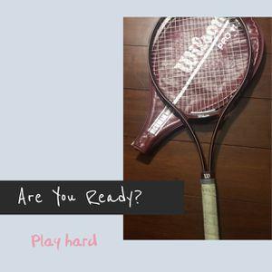 Wilson pro 110 tennis racquet 4 1/4 w/ cover racket for Sale in Phoenix, AZ