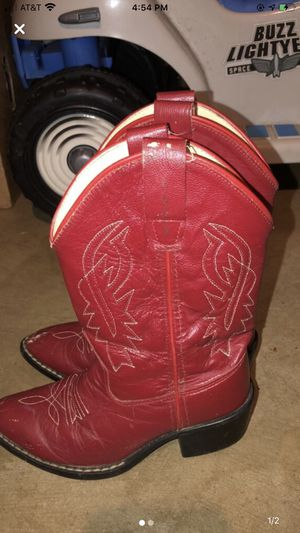 Cowboy boots leather size 10 in girls for Sale in Fenton, MO