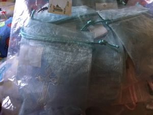 36 pack sealed baptism/christening drawstring mini favor bags for Sale in Bailey's Crossroads, VA
