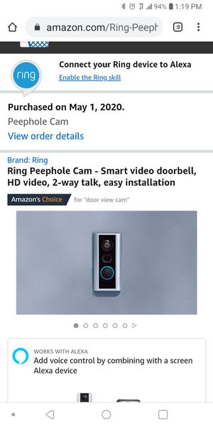 Ring peephole camera for Sale in Fort Worth, TX