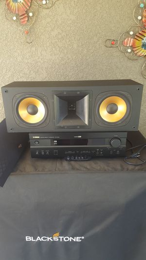 Klipsch rc 3 center channel and yamaha receiver for Sale in Orosi, CA