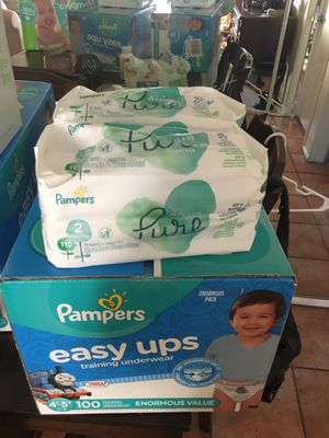 Pampers Pull ups and wipes size 4t/5t for Sale in Phoenix, AZ