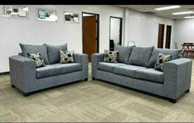 New Grey Sofa 🌹and Loveseat Couch same day delivery No credit check 🎄 for Sale in Houston,  TX