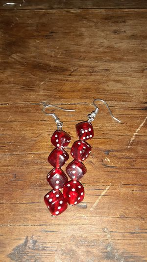 Red dice earrings for Sale in Albuquerque, NM