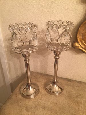 2 Adorable Crystal Candle Holder for Sale in San Jose, CA