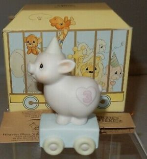 "Precious Moments Birthday Train Pig Age 3 ""Heaven Bless This Special Day"" 15954 for Sale in Crownsville, MD"
