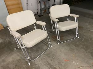 Boat Deck chairs - Wise folding chairs for Sale in Long Beach, CA