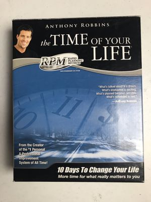 Anthony Robbins The Time of Your Life RPM 10 Day CD Set & Booklets, Forms for Sale in Corona, CA