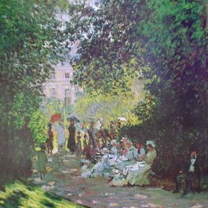 "Claude Monet ""Parisians enjoying the park"" unframed print for Sale in Hollywood, FL"