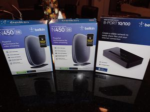 Wi_Fi Router and wired network switch, $25 each. for Sale in Ruskin, FL