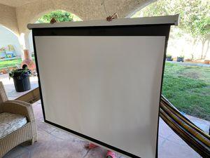 Projection Screen 5 1/2 X 6 feet long for Sale in Henderson, NV