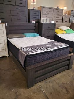 Queen Bed Frame**MATTRESS NOT INCLUDED**, Charcoal, SKU# ASHB249-QTC for Sale in Santa Fe Springs,  CA