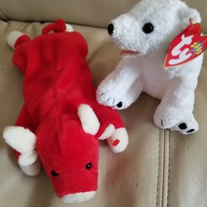 Beanie Babies TY Original SNORT and AURORA Rare Both for $16.00 for Sale in Coronado, CA
