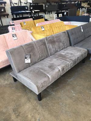 Grey Velvet Futon ‼️Black Friday Sale‼️ for Sale in Dallas, TX