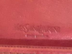 Yves Saint Laurent red genuine leather wallet for Sale in Denver, CO