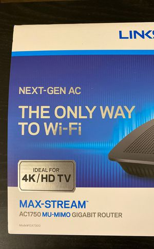 Linksys EA7300 Dual-Band WiFi Router for Home (AC1750 MIMO) for Sale in Sunnyvale, CA