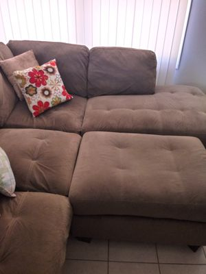 Sectional with Ottoman for Sale in Lancaster, CA
