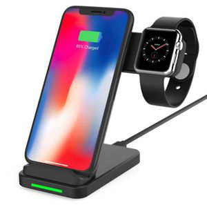 Wireless Charger,2 in 1 Wireless Charging Station for Apple Watch Series 4/3/2/1, Fast Wireless Charging Stand for iPhone 11/11 Pro Max/X/XS/XR/Xs Ma for Sale in San Francisco, CA