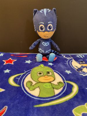 PJ Mask Blanket and stuffed toy for Sale in Katonah, NY