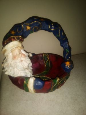 Decorative Christmas Dish With Handle for Sale in Lake Hallie, WI