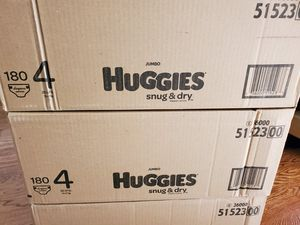 Huggies snug and dry size 4 diapers $38 each for Sale in Santa Ana, CA