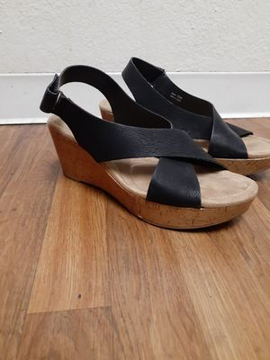Wedge women Shoes Size 12 black for Sale in Mesa, AZ