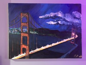 Hand painted Golden Gate Bridge. Oil on canvas. for Sale in Portland, OR